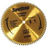 BTS-P-80HATB, SawStop TB 10 in. 80 Tooth Titanium Series All-Purpose Saw Blade
