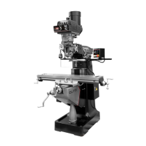 894414, Jet EVS-949 Mill with 3-Axis ACU-RITE 303 Knee DRO, Servo X-Axis, Y-Axis Powerfeeds, and Draw Bar