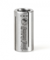 RB-119, Amana High Precision Steel Router Collet Reducer 1/2 Overall Dia x 5/16 Inner Dia x 1 Inch Long