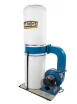 1002685, Baileigh DC-1650B, 2HP, 220V, 1Ph, Bag Style Dust Collector