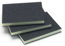 1351-100, Mirka 3.75 in. x 4.75 in. x 0.5 in. Double Sided Abrasive Sponge 100G, Qty. 10