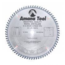 610721, Amana Carbide Tipped Solid Surface 10 Inch Dia x 72T MTC, 0 Deg, 5/8 Bore