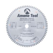 512721, Amana Carbide Tipped Aluminum and Non-Ferrous Metals 12 Inch Dia x 72T TCG, -6 Deg, 1 Inch Bore
