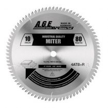 """MD10-806, A.G.E. Heavy-Duty Miter / Double Miter  Saw Blade, 10""""x 80Teeth, 5/8"""" Bore"""