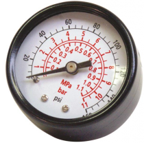 PC0057, Senco 1/8, 0-160 Psi, Back Mount Pressure Gauge