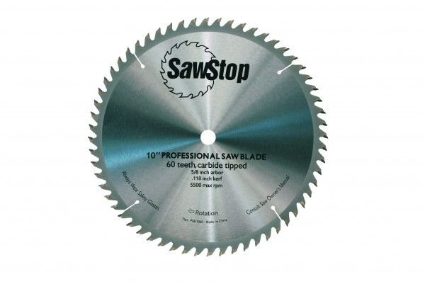 """CB104 184, Sawstop 10"""" 60-Tooth Blade"""