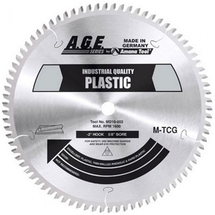 MD7-402, A.G.E. Industrial Plastic Saw Blade, 7-1/4