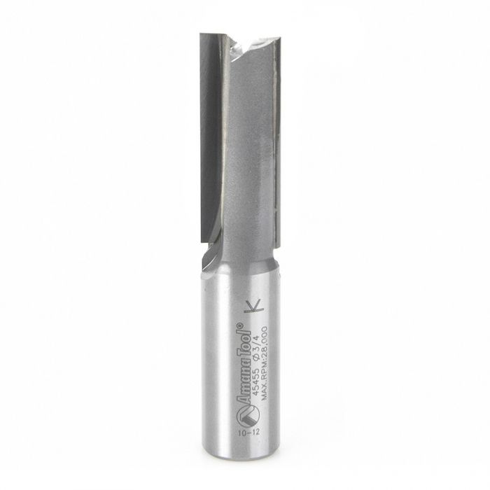 45455, Amana CNC Carbide Tipped Straight Plunge High Production 3/4 Dia x 2 Inch x 3/4 Shank R/H