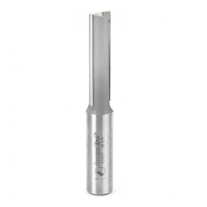45457, Amana CNC Carbide Tipped Straight Plunge High Production 3/4 Dia x 2-1/2 x 3/4 Shank L/H